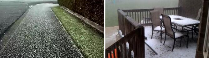 Burze gradowe przerwały wiosnę. Dywany gradzin zasypały miasta