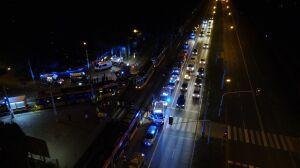 """Wieczorne zderzenie tramwajów. """"Trzynaście osób poszkodowanych"""""""