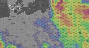 Potencjalny rozwój burz w ciągu najbliższych pięciu dni (Ventusky.com) | wideo bez dźwięku