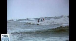 Akcja ratowania kitesurfera (TVN24)